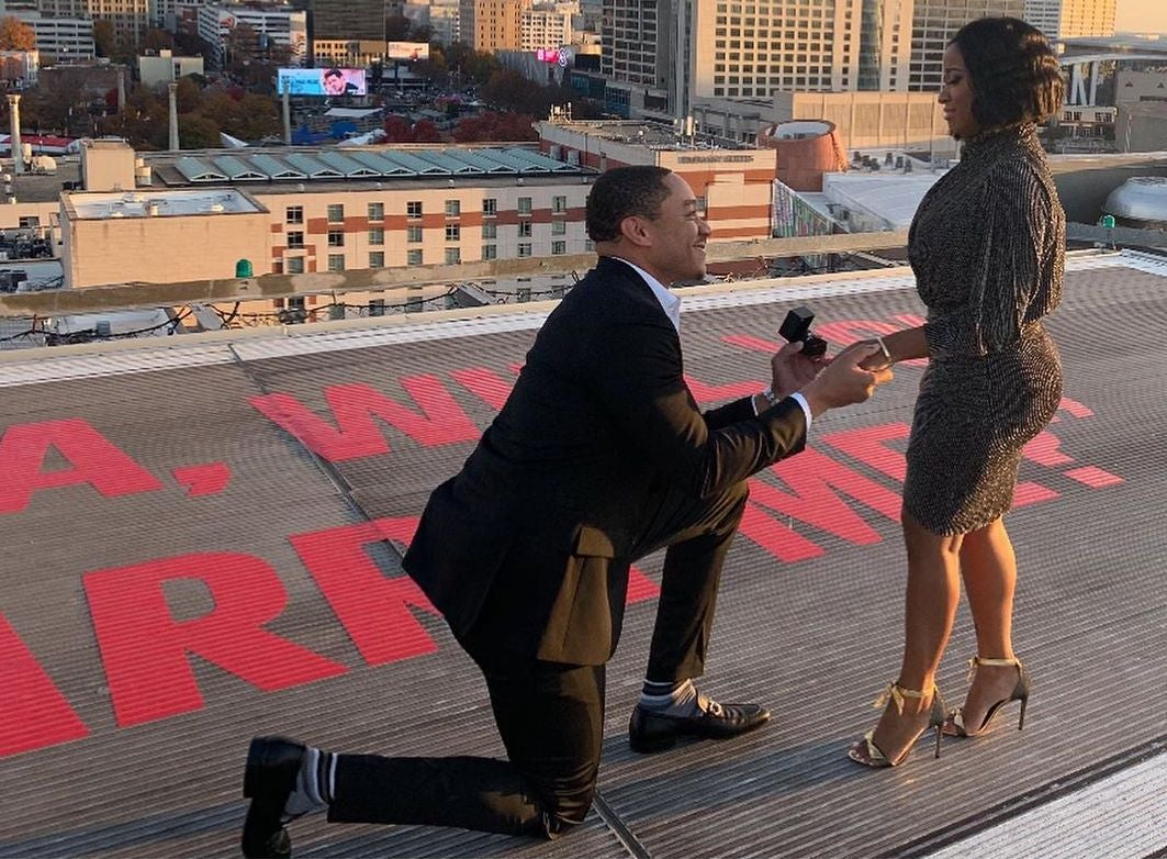 Toya Johnson And Red Rushing's Helicopter Engagement Will Have You On Cloud 9
