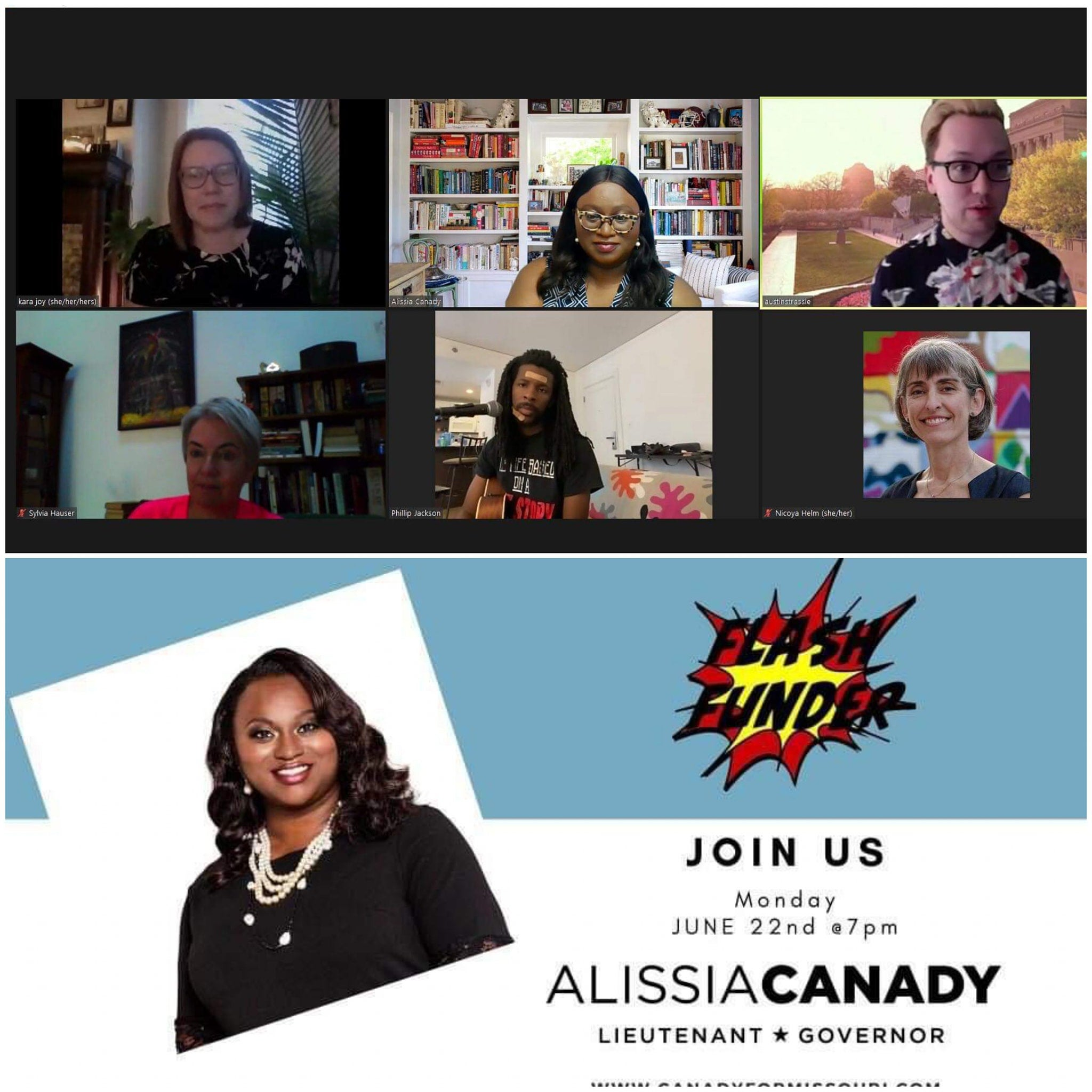 Alissia Canady on a zoom call
