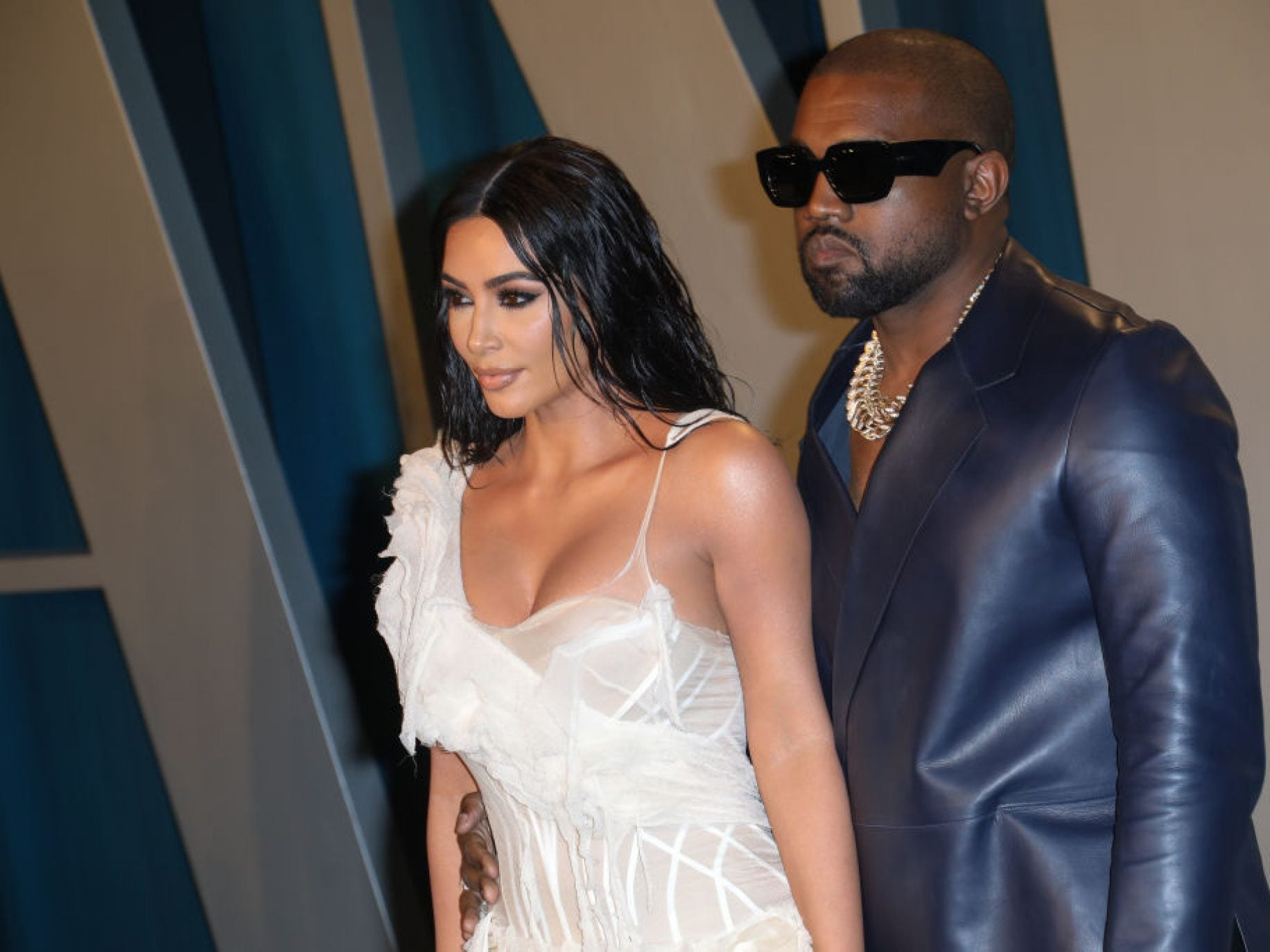 Kanye West Surprised Kim Kardashian With A Hologram Of Her Late Father For Her 40th Birthday