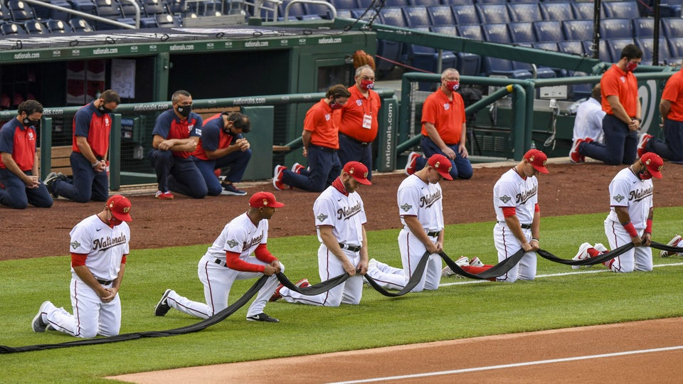 Baseball Players Take A Knee To Support Black Lives Matter Movement