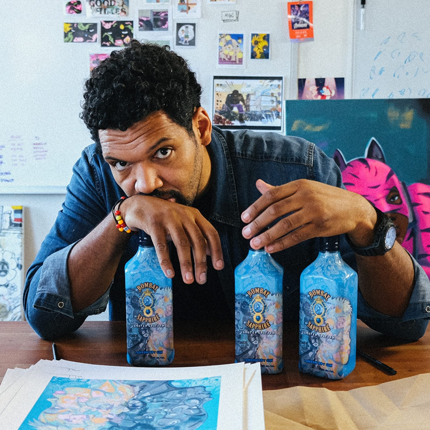 Visual Artist Hebru Brantley Designs First Ever Limited Edition Bombay Bottle