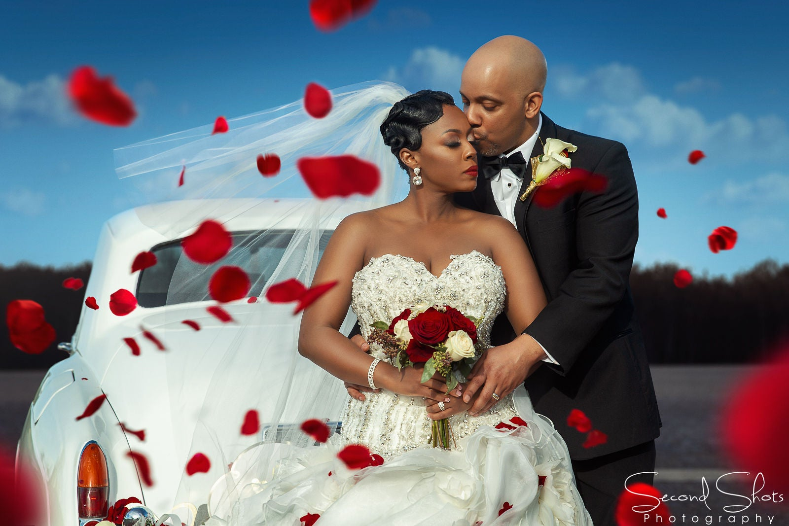 Bridal Bliss: The Roses Were Oh-So-Red At Krystal And Billy's Romantic Texas Wedding