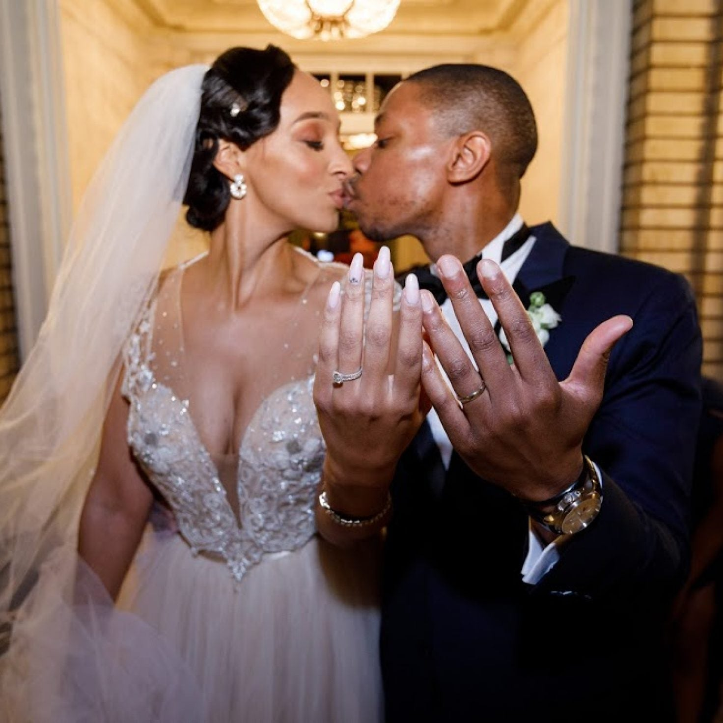 Bridal Bliss: Lenore And Adegoke's Georgia Wedding Made Us Stop And Stare