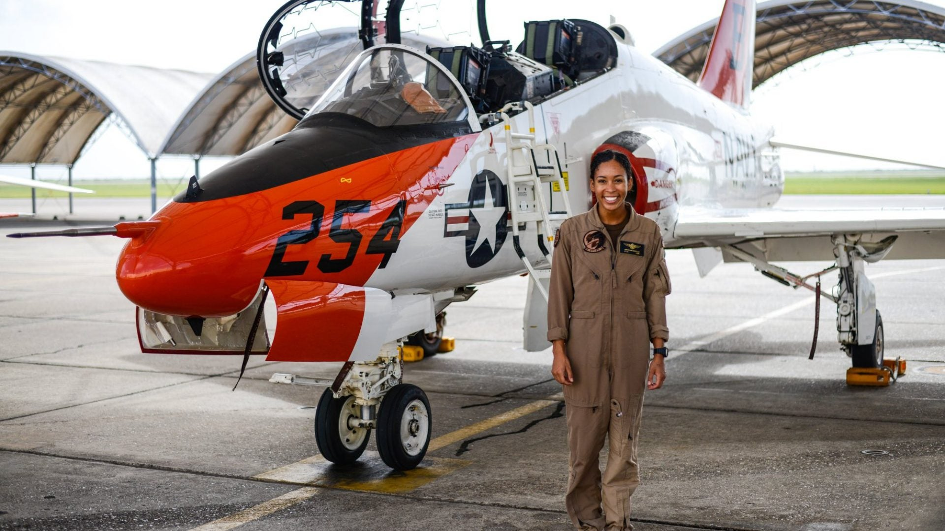 The U.S. Navy Celebrates First Black Woman Tactical Jet Pilot