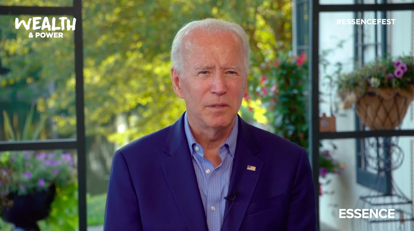 Biden Makes His Pledge To The Black Community During 2020 ESSENCE Festival Of Culture