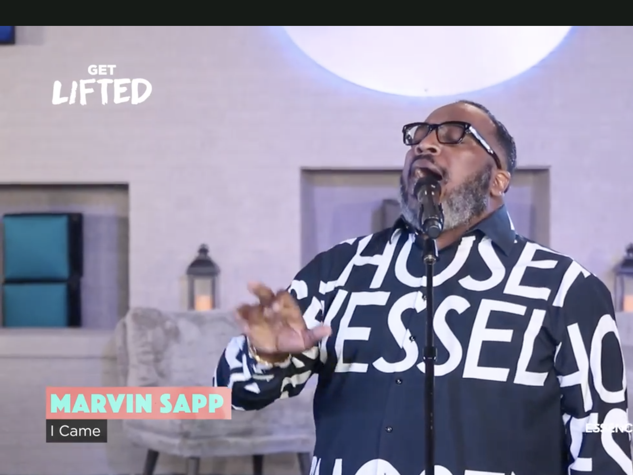 Marvin Sapp Performs a Medley of his Songs for Essence Festival 2020