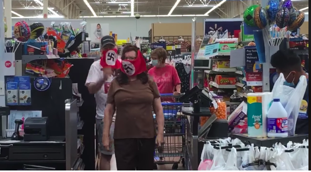 Walmart Bans Couple Who Wore Swastika Masks From Stores For A Year