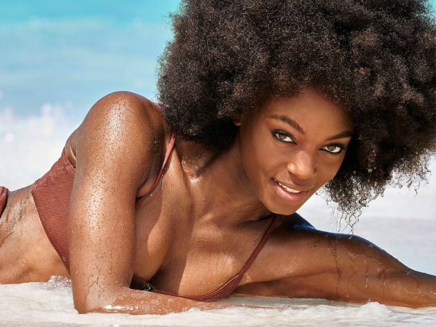 Meet The New 'Sports Illustrated' Swimsuit Model Rocking An Afro In Her Photos