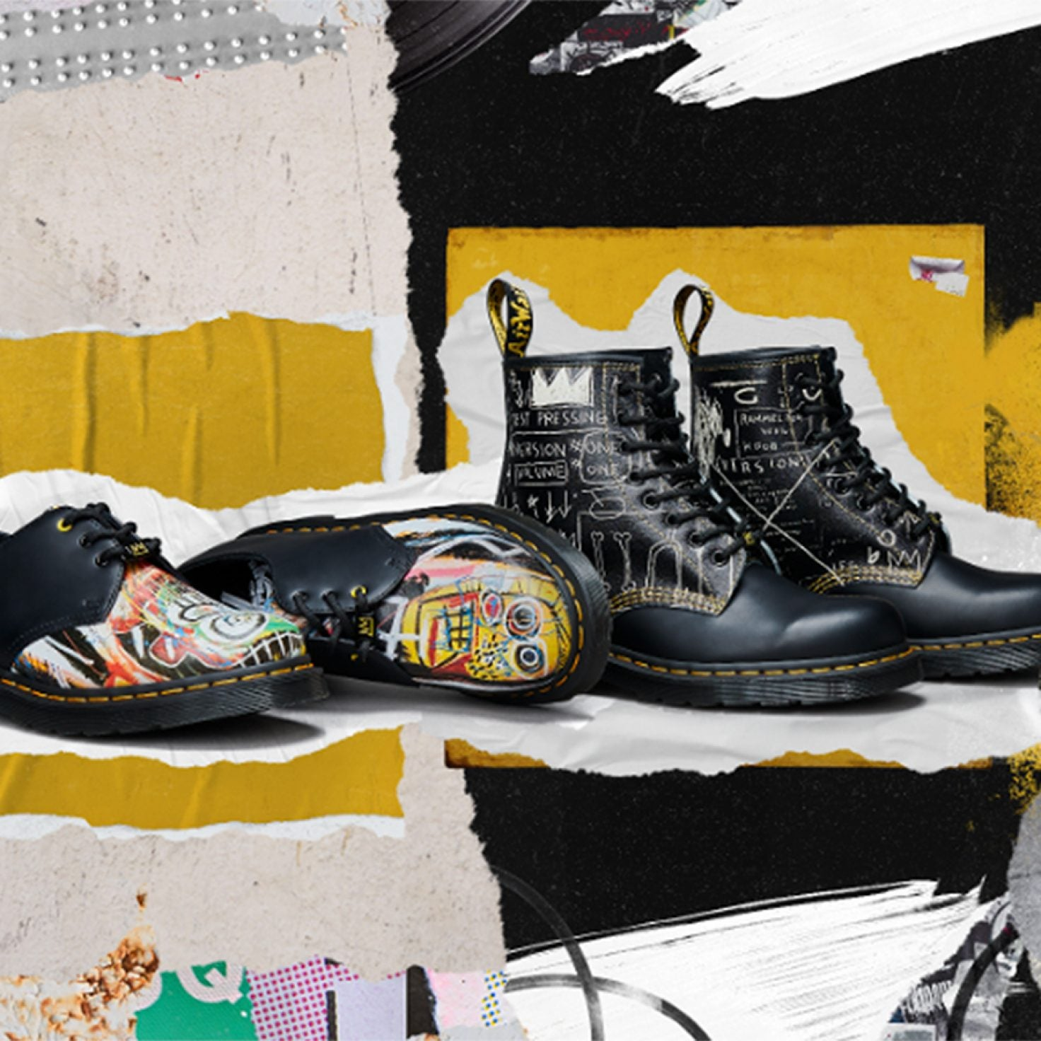 Dr. Martens Launches Capsule Collection With Jean-Michael Basquiat