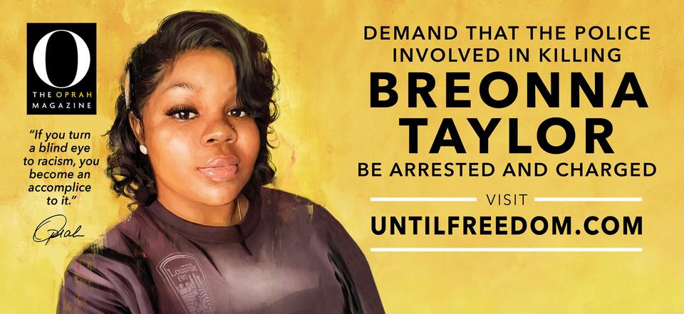 Oprah Erects 26 Billboards Around Louisville Demanding Justice For Breonna Taylor