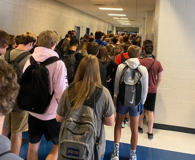 9 At Georgia School Test Positive For COVID-19 A Week After Photo Of Crowded Hallway Went Viral