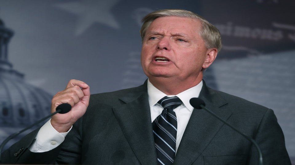 Protesters Call Lindsey Graham Hypocrite Over SCOTUS Decision