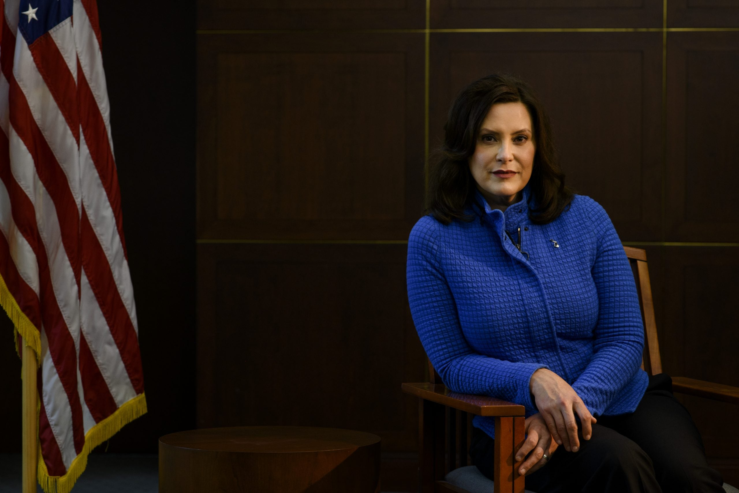Gov. Gretchen Whitmer. The Democrat leader is placing attention on the effects of racism, calling it a public health crisis