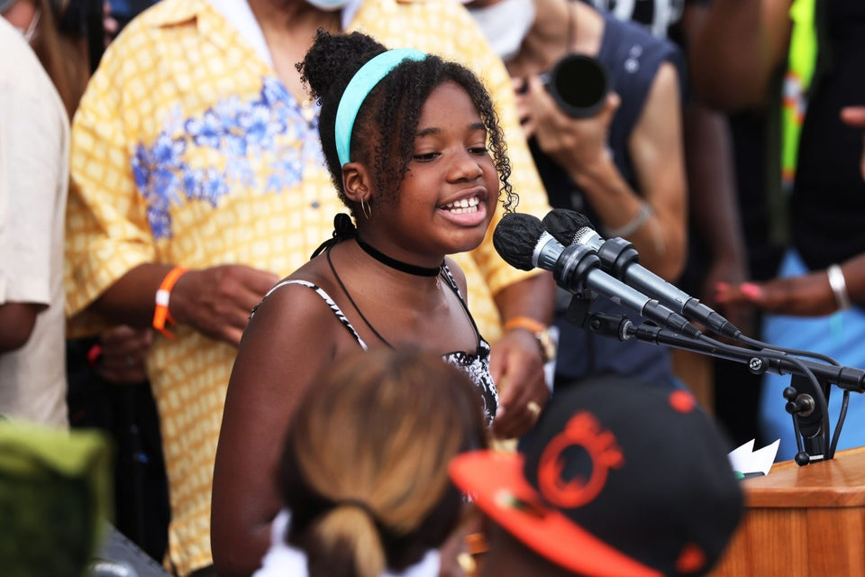 MLK's Grandaughter Delivers Rousing Speech During March On Washington
