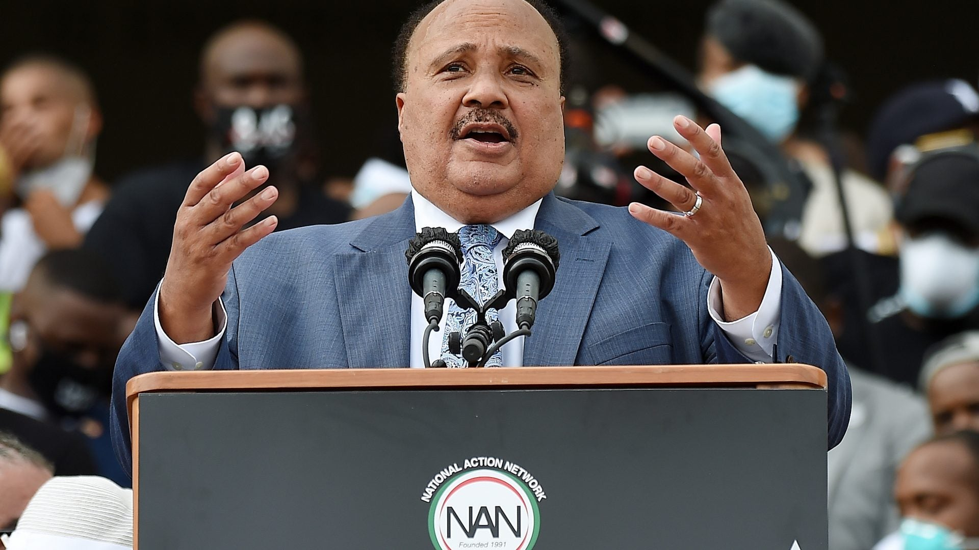 MLK III Passionately Addresses March On Washington Crowd