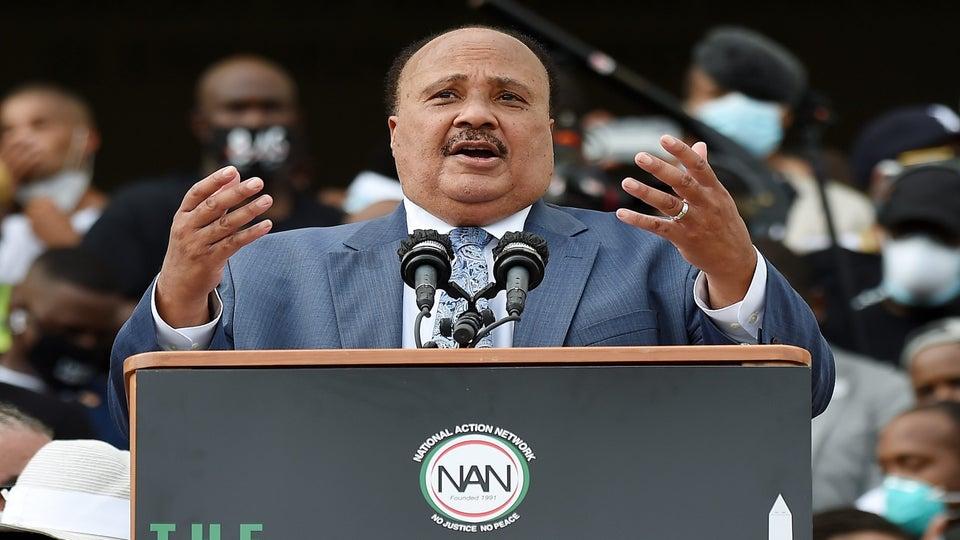 MLK III Passionately Addresses March On Washington Crowd