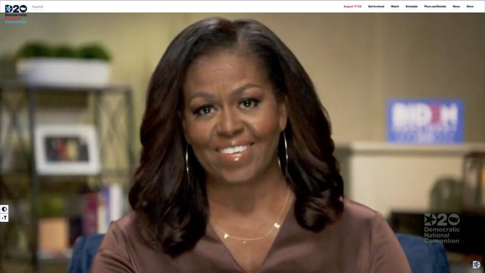Michelle Obama Wore ByChari For DNC Keynote Address