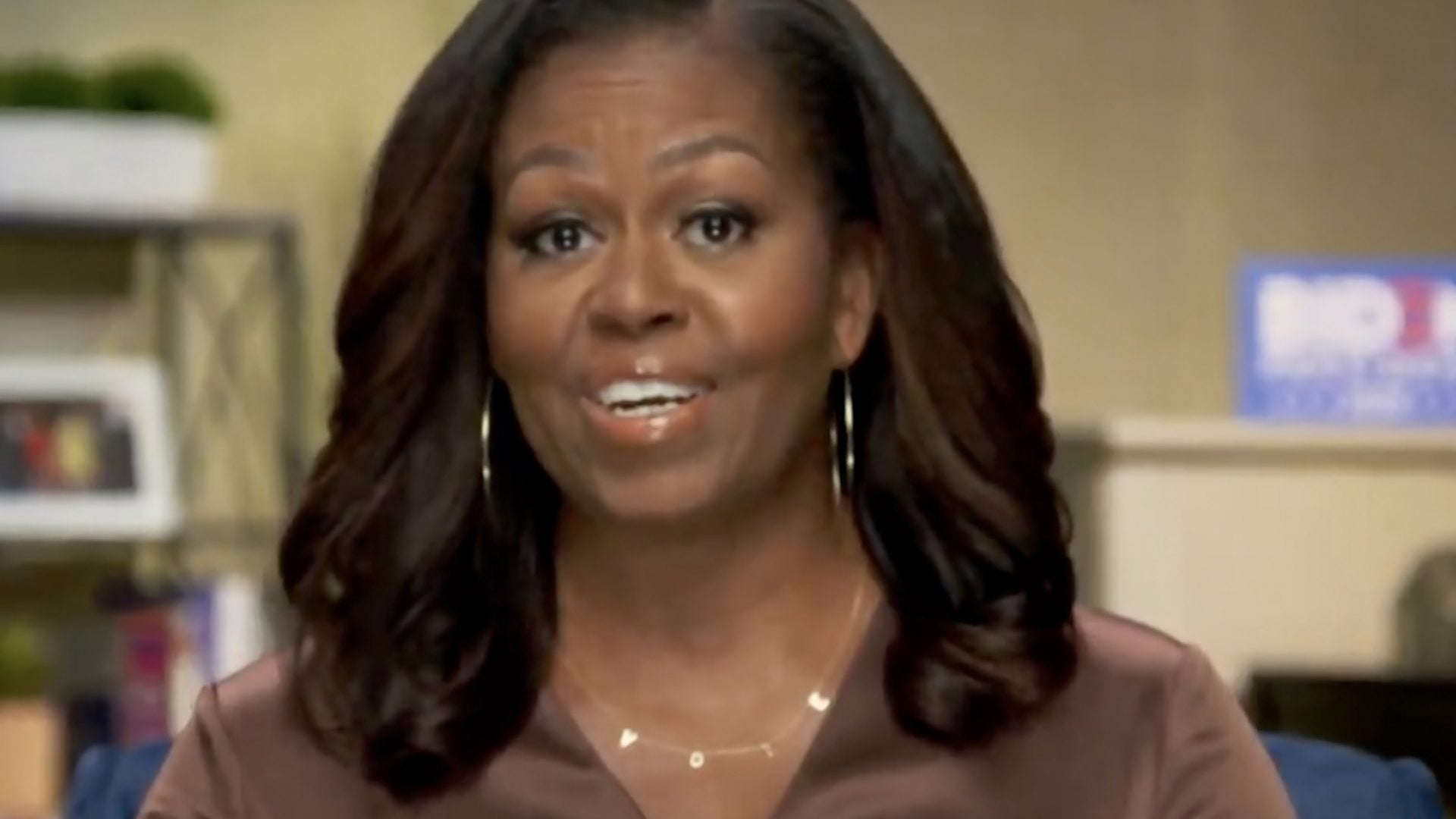Michelle Obama Name-Checks Trump During DNC Keynote