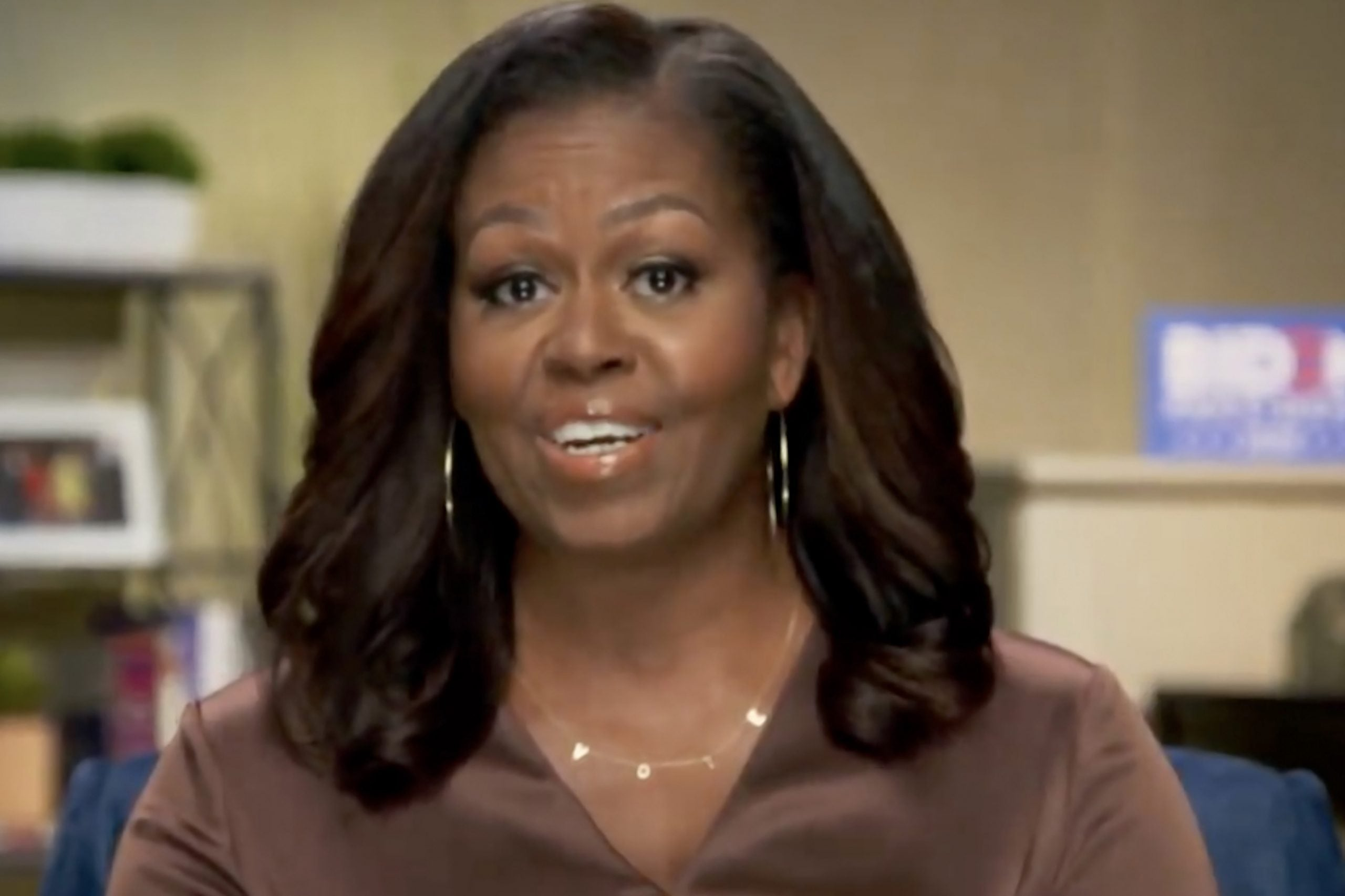 Michelle Obama appears in video at DNC