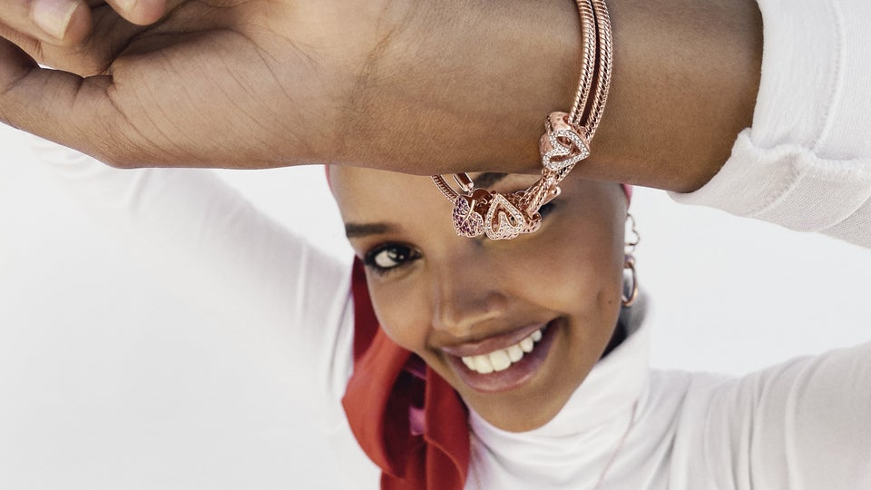 Halima Aden Celebrates 20 Years Of Collecting With Pandora