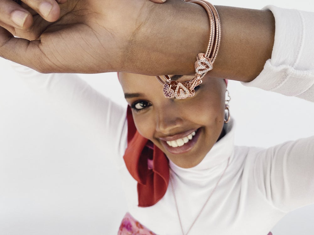 Halima Aden Celebrates 20 Years of Collecting With Pandora
