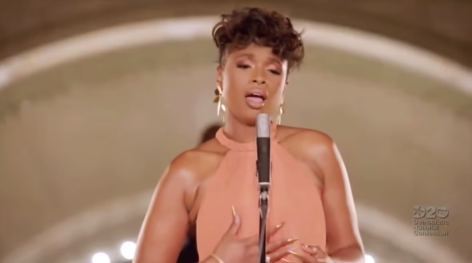 Jennifer Hudson Delivers 'A Change Is Gonna Come' During The DNC