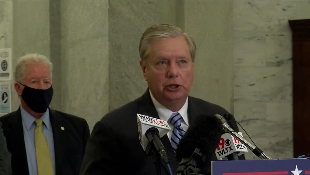 Lindsey Graham speaks at FOP endorsement press conference about Jacob Blake shooting