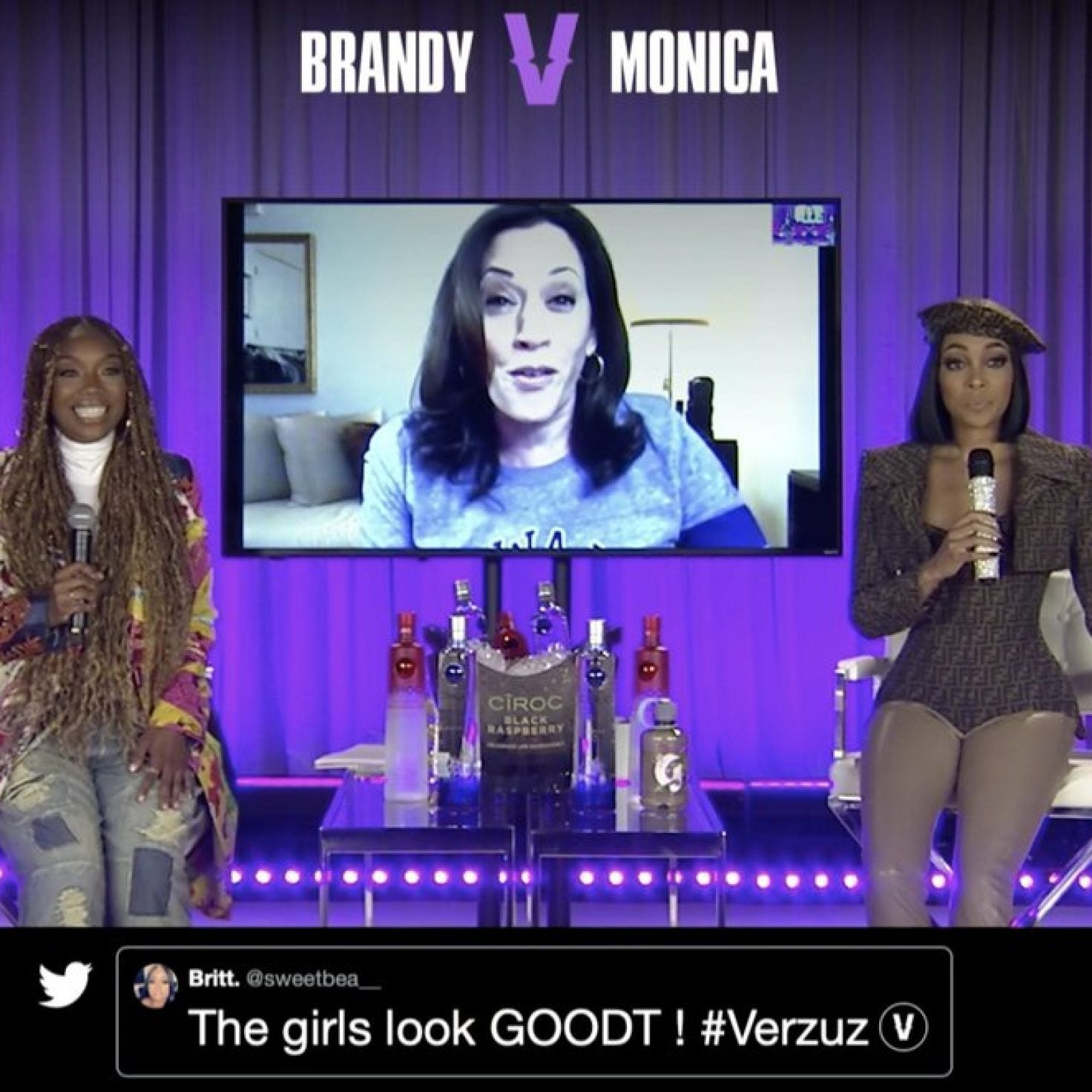 Brandy And Monica's Verzuz Battle Kicks Off With A Kamala Harris Cameo