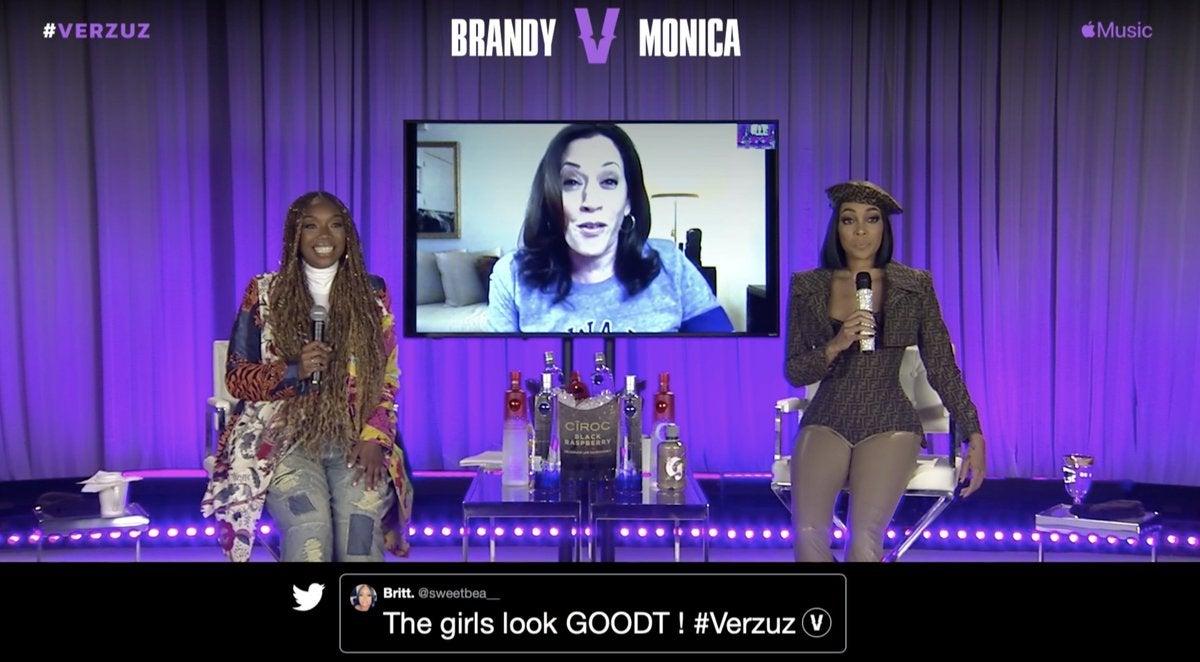 Brandy And Monica's Verzuz Battle Kicks Off With A Kamala Harris Cameo