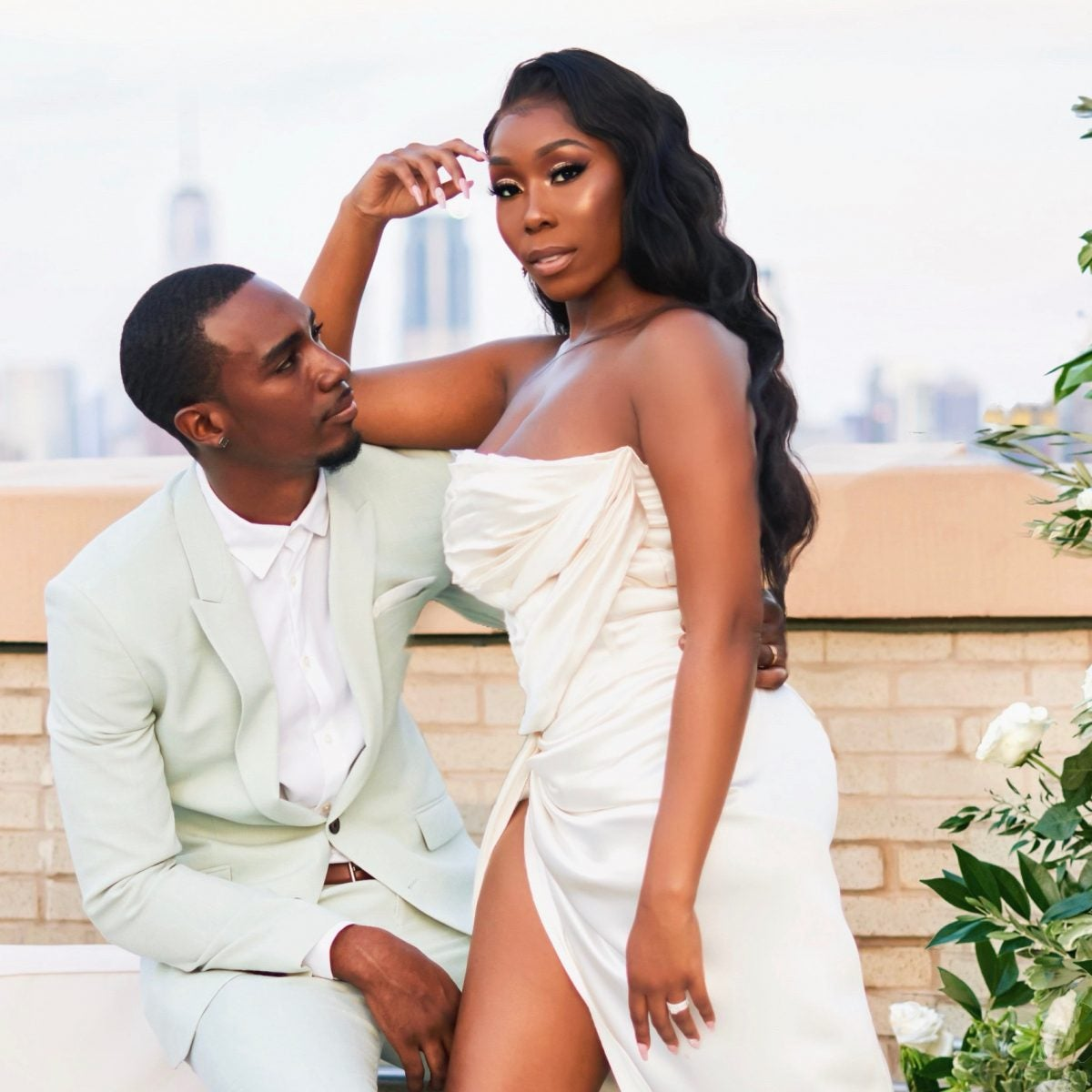 Bridal Bliss: Essie And Maurice's Rooftop Wedding Gave Us 'Black Love In The City'
