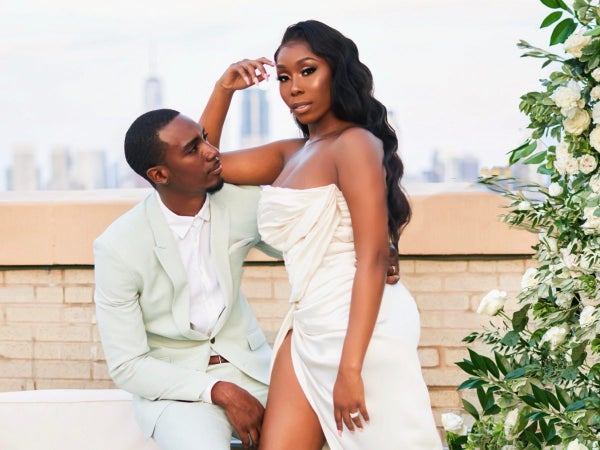 Bridal Bliss: Essie And Maurice's Rooftop New Jersey Wedding