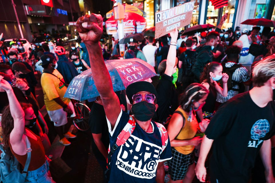 Pro-Trump Rally Clashes With Black Lives Matter March In Times Square