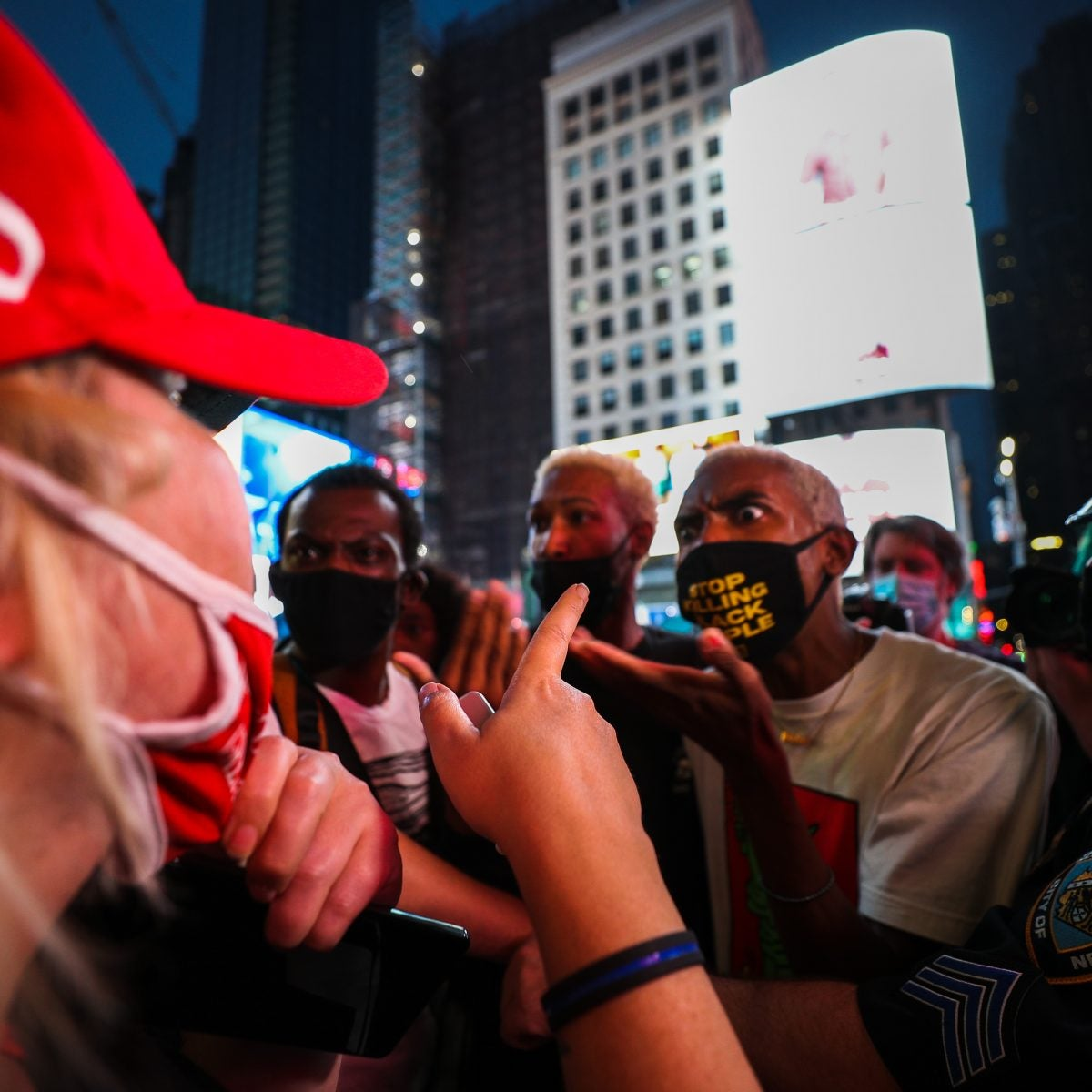 Police Say Pro-Trump Counterprotester Plowed Car Into Black Lives Matter Demonstrators In Times Square