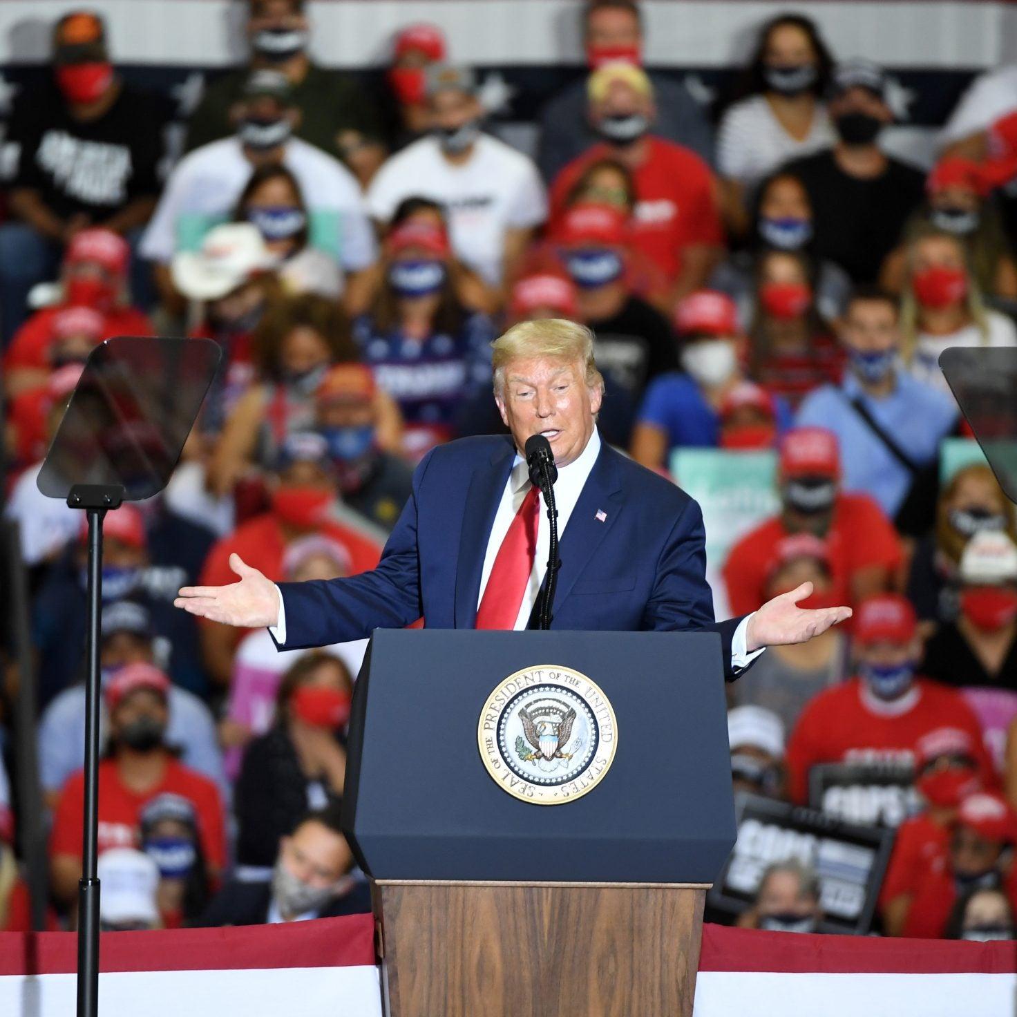 Nevada Gov. Steve Sisolak Slams Trump For Hosting Campaign Rally Indoors