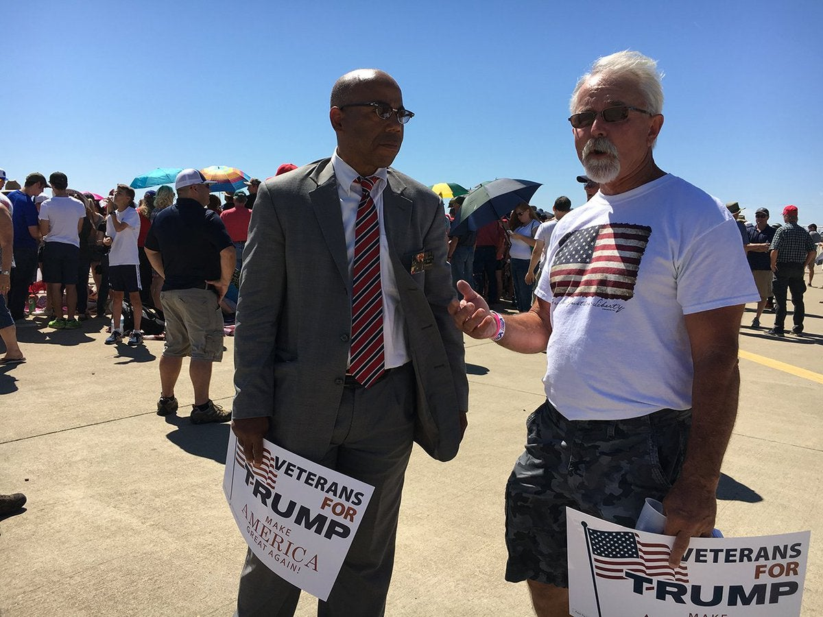 Gregory Cheadle Speaks with Trump supporter in 2016.