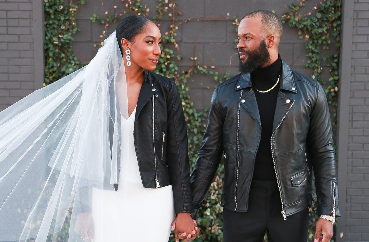 Bridal Bliss: We Couldn't Take Our Eyes Off Maya And André's Modern North Carolina Wedding