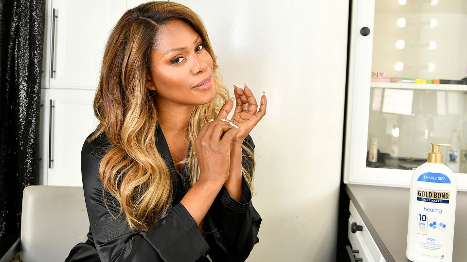 Laverne Cox Talks New Gold Bond Campaign, The Emmys And 'Bad Hair'