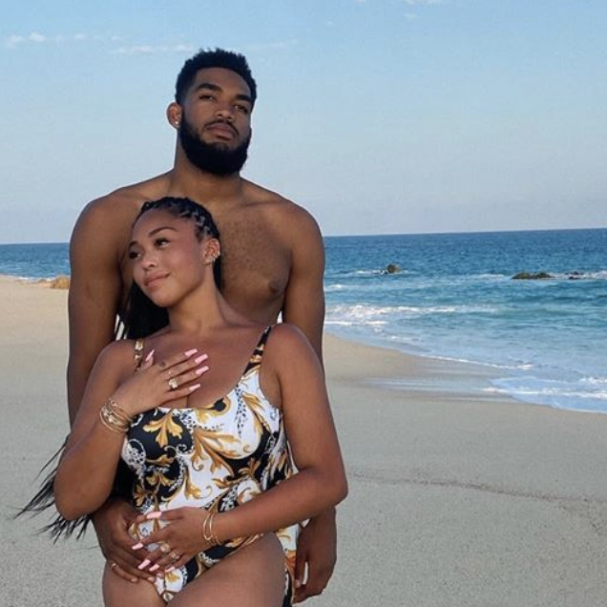 Jordyn Woods And Her New Boyfriend Karl-Anthony Towns Are On Cloud 9