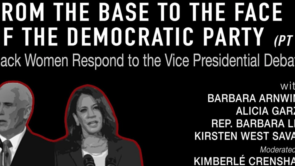 From The Base To The Face Of The Democratic Party: Black Women Respond To The VP Debate