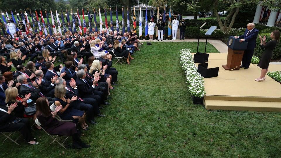 Rose Garden Announcement Of Supreme Court Nominee Suspected COVID-19 Super-Spreader Event