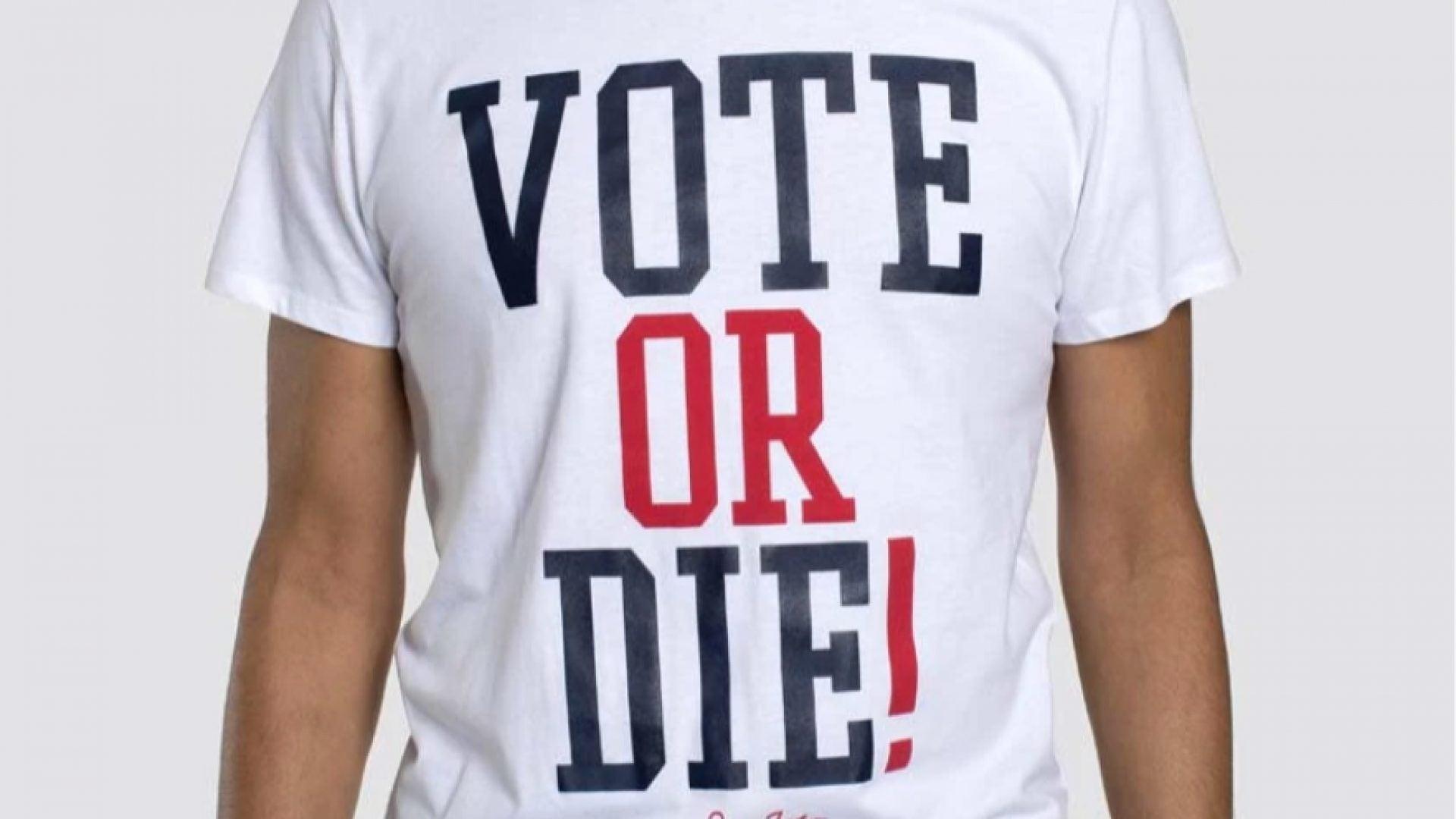 "Sean Jean Relaunches Popular 'Vote Or Die"" Tee"