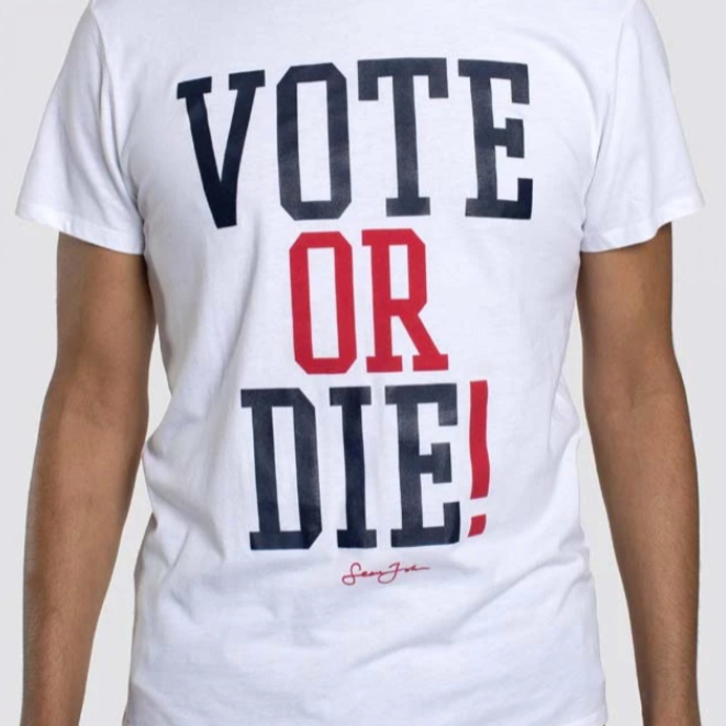 """Shop Now: Sean Jean Relaunches Popular 'Vote Or Die"""" Tee"""