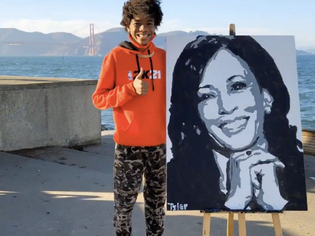 Artist Tyler Gordon, 14, Receives Phone Call Of A Lifetime