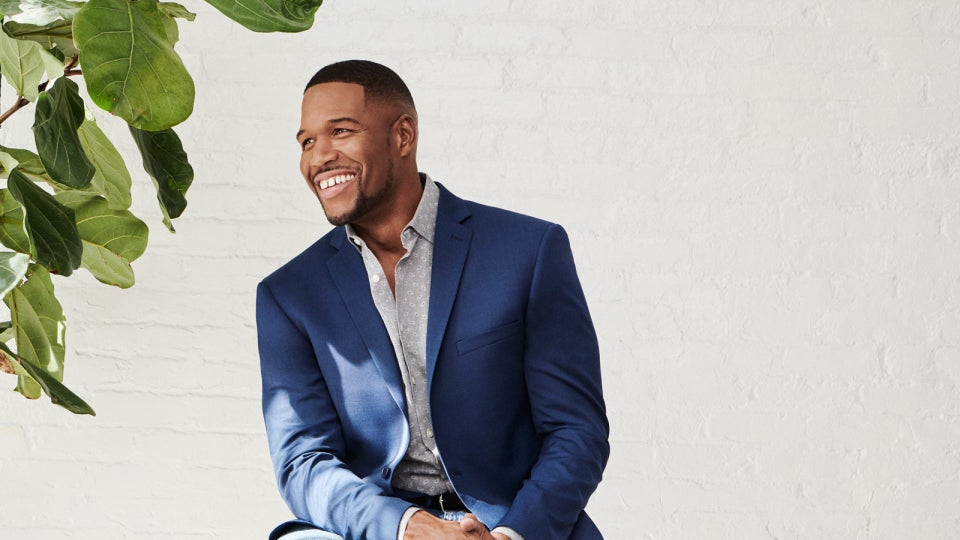 Michael Strahan Partners With Men's Warehouse