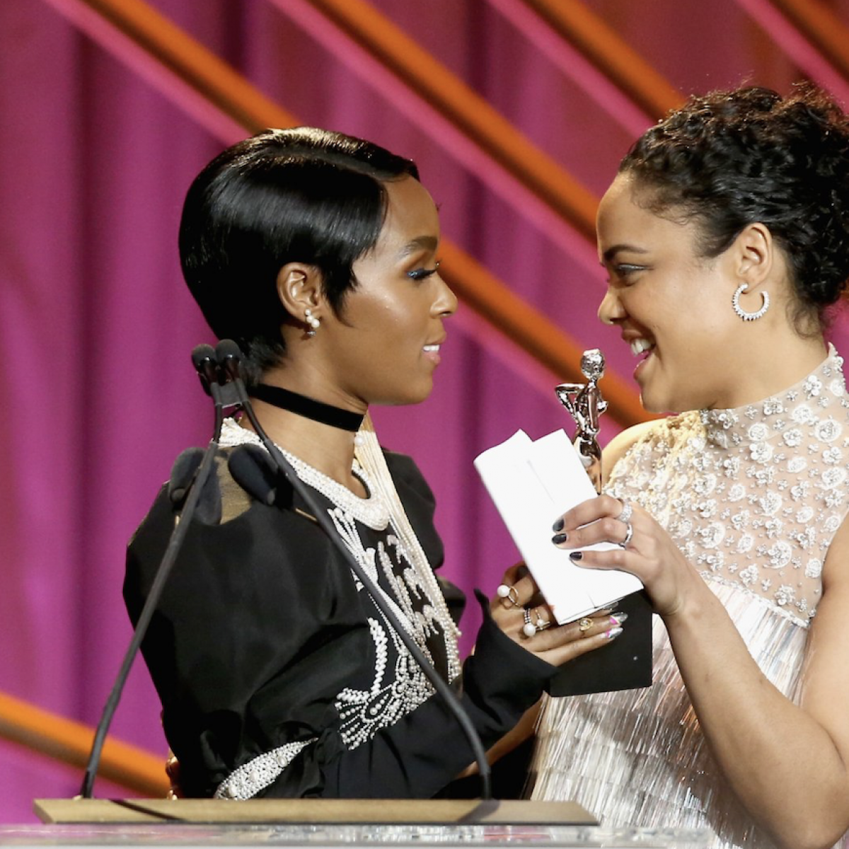 Watch Janelle Monáe And Tessa Thompson Play 'Truth Or Dare 4 Democracy'