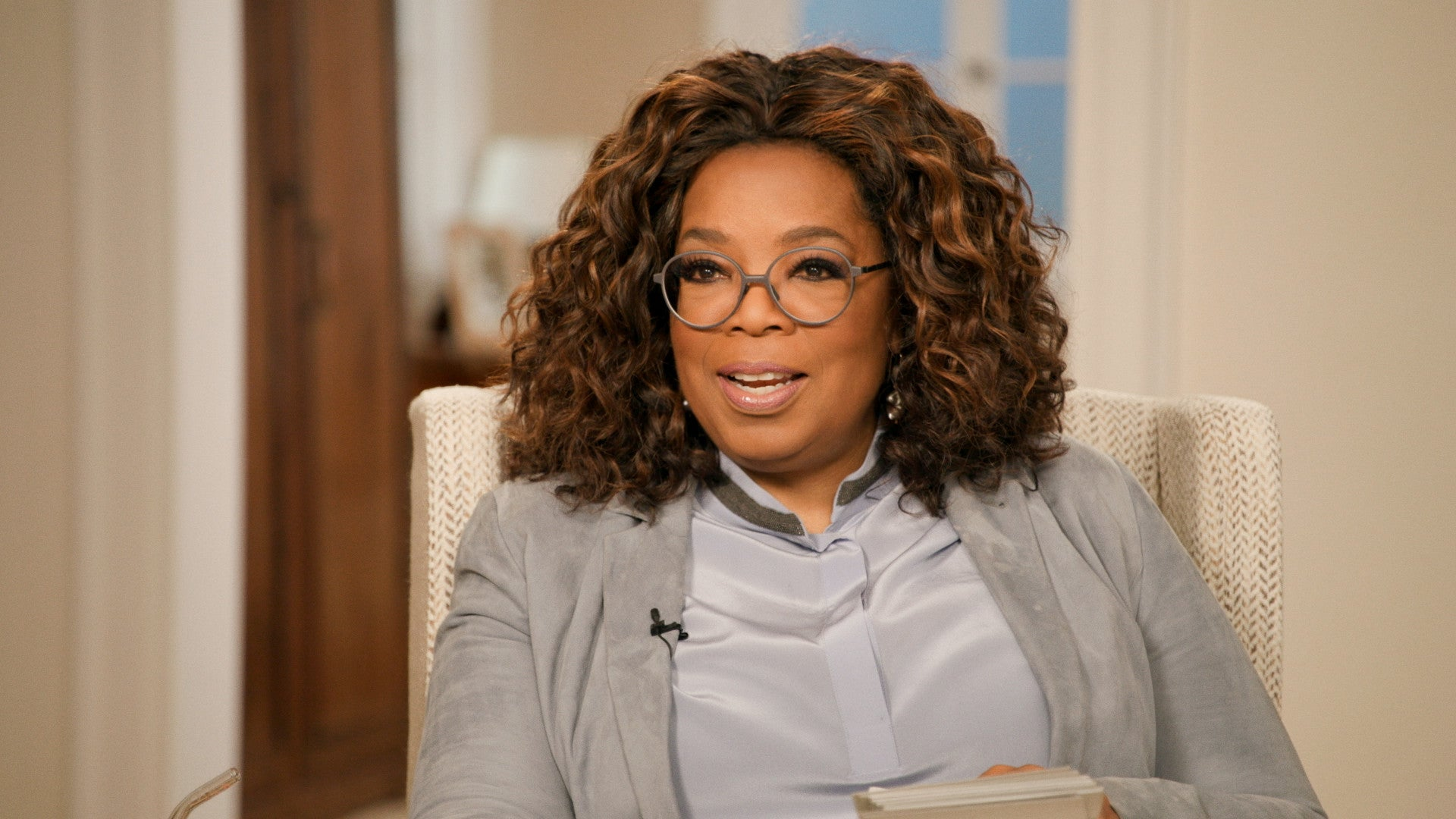 Oprah during Barack Obama interview