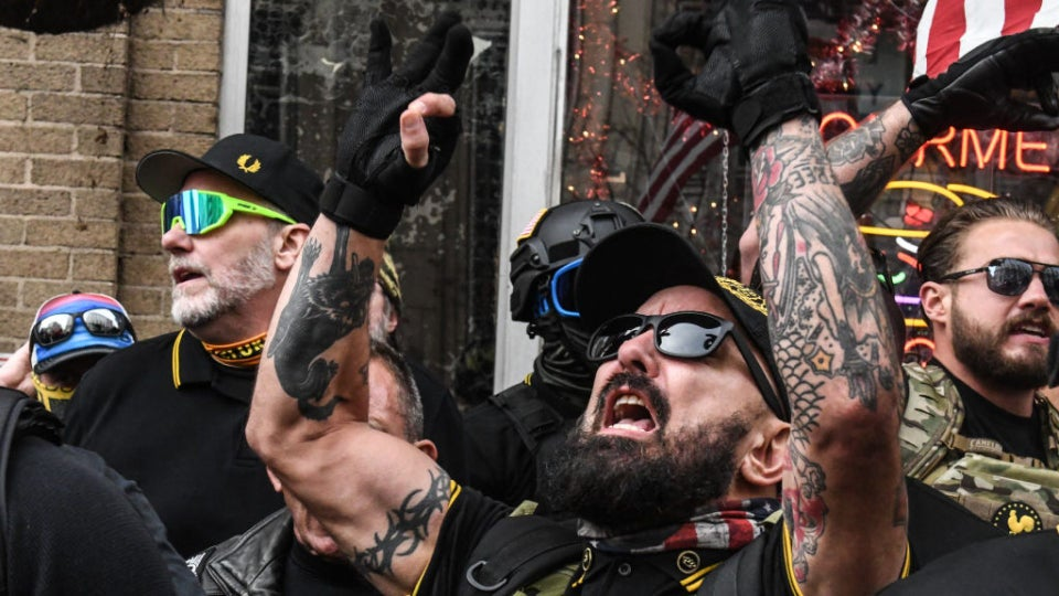 #MAGA Violence: Multiple People Stabbed As Proud Boys Tear Down Black Lives Matter Signs From Black Churches In D.C., Set Them On Fire