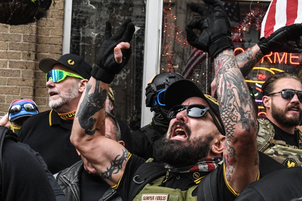 #MAGA Violence: Multiple People Stabbed As Proud Boys Tear Down Black Lives Matter Signs From Historic Black Churches In D.C., Set Them On Fire