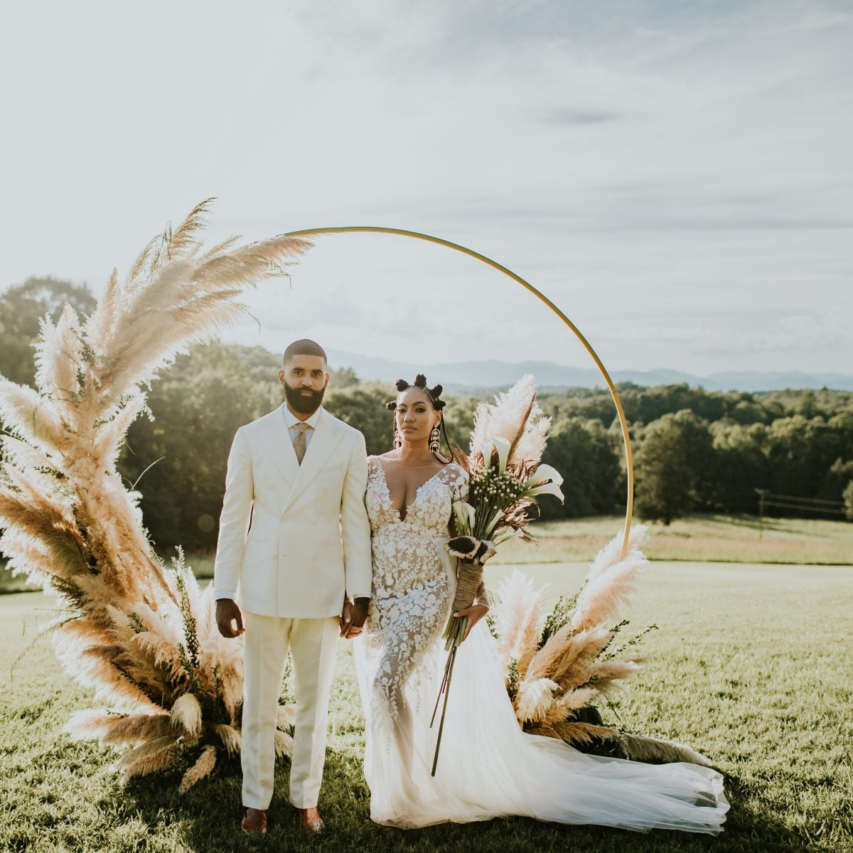 Rosco And Matthew's Ethereal North Carolina Wedding Was Intimate and Magical