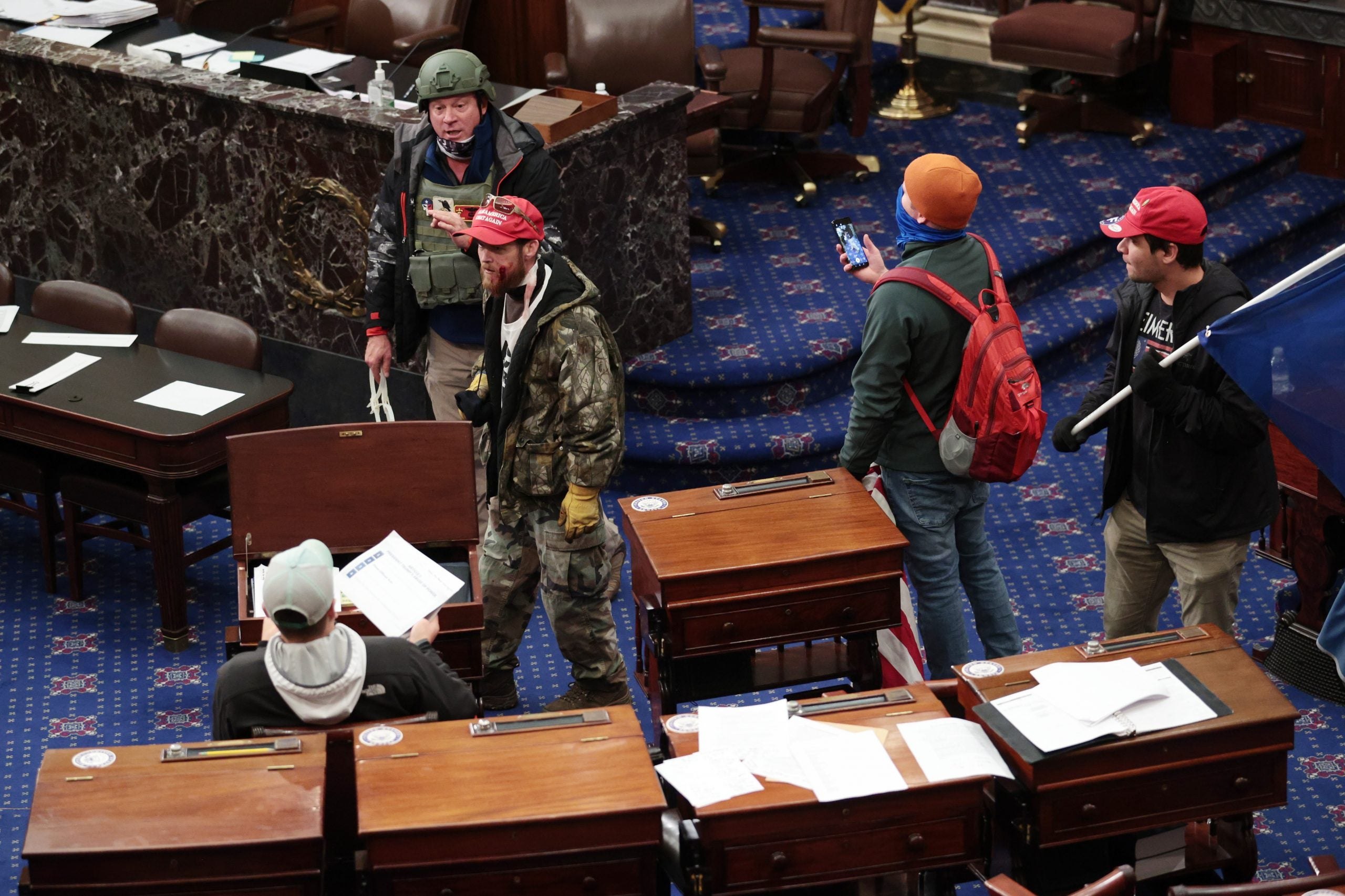 Armed Trump Supporters Storm U.S. Capitol To Stop Electoral Vote Count